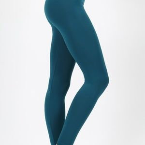 New dark teal tights / leggings / size S/M L/XL